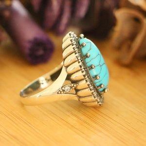 natural Turquoise Sterling Silver Hurrem Sultan